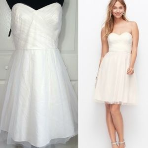 Ann Taylor Strapless Tulle Formal Wedding Dress